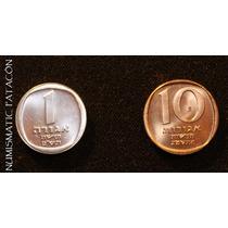 2 Monedas De Israel - Sin Circular