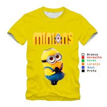 Camiseta Personalizada Dos Minions Blusa Amarela Promoção