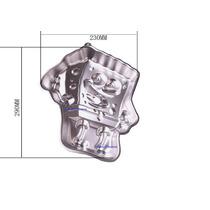 Molde Aluminio Bob Esponja Torta Reposteria-bazarsinfrontera