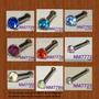 10 Piercing Para La Nariz Metal Y Plastico Rectas