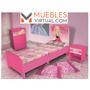 Mueble Infantil Barbie- Dormitorio Completo
