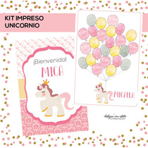 Kit Baby Shower / Cumple Primer Añito Nena Listo Para Usar