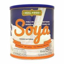 Real F00d Leche De Soya Soja En Polvo 1,5 Kg.