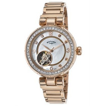 Reloj Rotary Lb002-a-41 Es Auto Rose-tone Stainless Steel