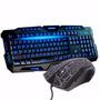 Kit Gamer Led Teclado + Mouse Neon 1600dpi Usb Legends K65