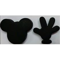 Molde De Silicone Rosto E Mão Mickey Minnie Biscuit Sabonete