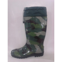 Bota Galocha Camuflada Adventure Plus Com Polaina Borracha