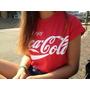 Baby Look Feminina Coca Cola, T-shirt Feminina,moda Verão