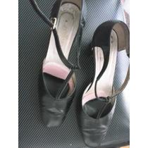 Zapatos Ferraro, Nº 38,cuero Cabritilla, Negros, Un Guante!