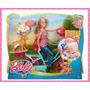 Muñeca Barbie Aventura En Bicicleta Con Perritos - Mattel