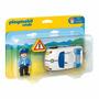 Playmobil Primero Pasos 123 Auto Policia Y Personaje Tv