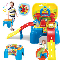 Banquito Mesa De Juegos Autos Estacion C/ Sonidos Zippy Toys