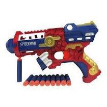 Pistola Lanzadora De Dardos Spiderman Avenger Juguete Niños