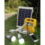 Kit Solar 10w+bateria+2 Luces Led C/cable+radio+mp3