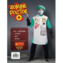 Zombie Costume - Mens Bloody Médico Conjunto Con El Sombrer