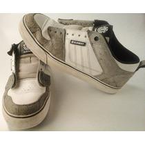 Zapatillas Element Skate Cuero Blancas