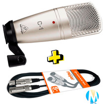 Microfone Condensador C1 Behringer C-1 + Cabo