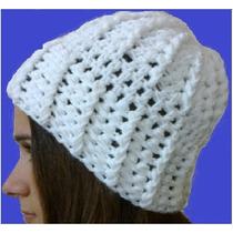 Gorros De Lana Tejidos Al Crochet. Unisex