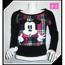Chompa Mickey Para Mujer Regalo Stock