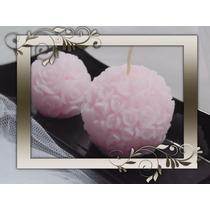 Velas Bocha De Rosas Tamaño Para Souvenir