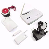 Alarme Residencial Chip Gsm 4 Zonas Auto Discagem S Fio C303