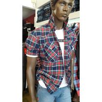 Camisa Broche Manga Corta Hombre Beyourselftiendas