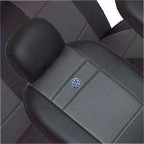 Capa De Couro Ecológico Com Logo P/ Vw Gm Ford Fiat + Brinde