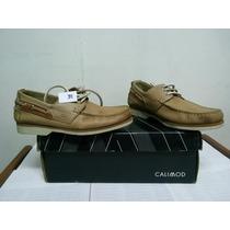 Zapato Casual Calimod T 39 Peru Color Oliva Nuevo En Caja