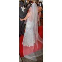 Vestido De Noiva Renda Usado Uma Única Vez