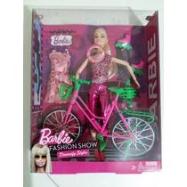 Barbie Fashion Show Boneca Bicicleta + Patins+acessórios+som