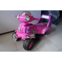 Moto Electrica Fucsia Juguete Para Repuesto O Reparar