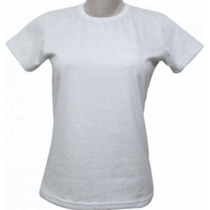 Kit 10 Camisetas B Look Fem Branca Gola V Ou U Sublimação