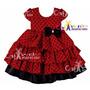 Vestido Infantil De Festa Minnie /joaninha Luxo - Promoção!