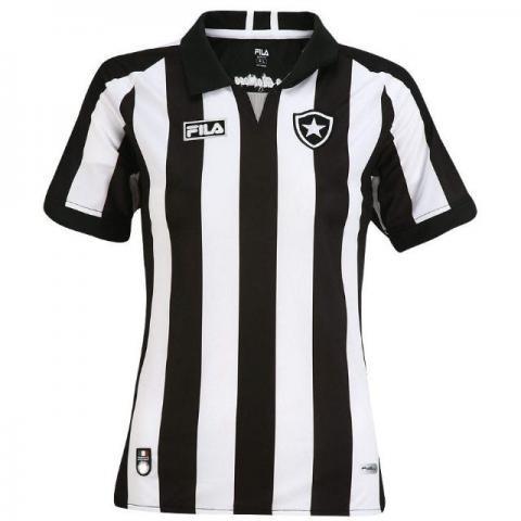 29c0fc2b53 Esportes e Fitness    Futebol    Camisas de Futebol Camisa Feminina Botafogo  Fila Listrada Original
