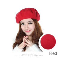 Boina Francesa Vermelha Feminina Pronta Entrega Arrase Look