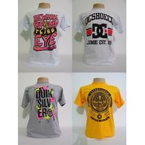 Kit 5 Camisetas - Quiksilver Hurley Billabong Oakley Ny La