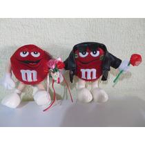 Peluche Chocolates M&m Rojo Romanticos 24cm