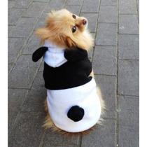 Roupa Casaco Para Cachorro Raças Pequenas Fantasia Panda M