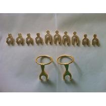 Cabeças Poleiros Gaiola Metal Dourado Trinca Ferro Pixarro