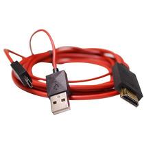 Cabo Mhl Hdmi Micro Usb Tv Em Smart Tv Celular Lg Sony Zte