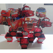 Centros De Mesa Cars-bautismo-winnie Pooh- Mickey Y Mas!!