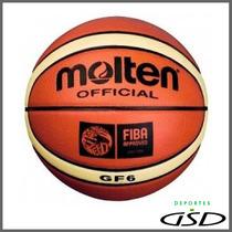 Balón Molten Basquetbol Piel Sintética Gf6 Fiba Femenil