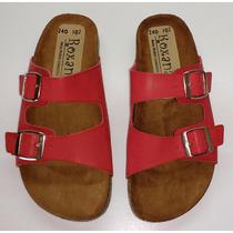 Sandalias Tipo Birkenstock Arizona 102 Rojo H&m Zara Oysho