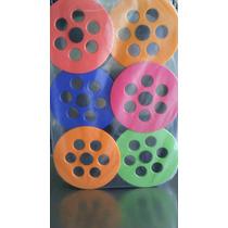 P/ Pipa Kit Carretilha Chilena Plástico Sem Linha Com 06 Uni