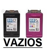 Cartucho Hp 122xl Preto + Color (vazio) Novo Para Recarga