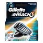 Carga Mach3 Gillette - 4 Cartuchos