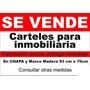 En 72hs Cartel Para Inmobiliaria 50x70 Cm Pvc Corrugado