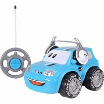 Carro Controle Remoto Fiat-fun Car Azul 3 Funções Original
