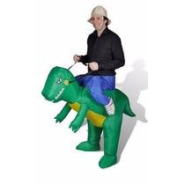 Traje Disfraz Adulto Divertido Dinosaurio Inflable Halloween