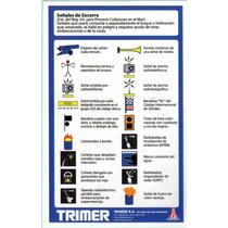 Tabla De Señales De Auxilio. Elementos De Seguridad Pna